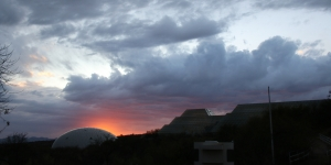 Sunset over Biosphere 2 by Cameron Smith