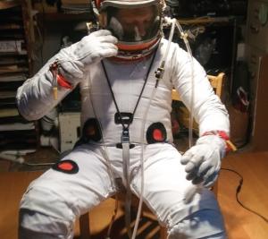 A training garment for underwater, neutral buoyancy training (2018) by Cameron Smith