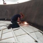 Angus Gluck grinding at SAM, Biosphere 2
