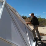 Robert David sanding at SAM, Biosphere 2