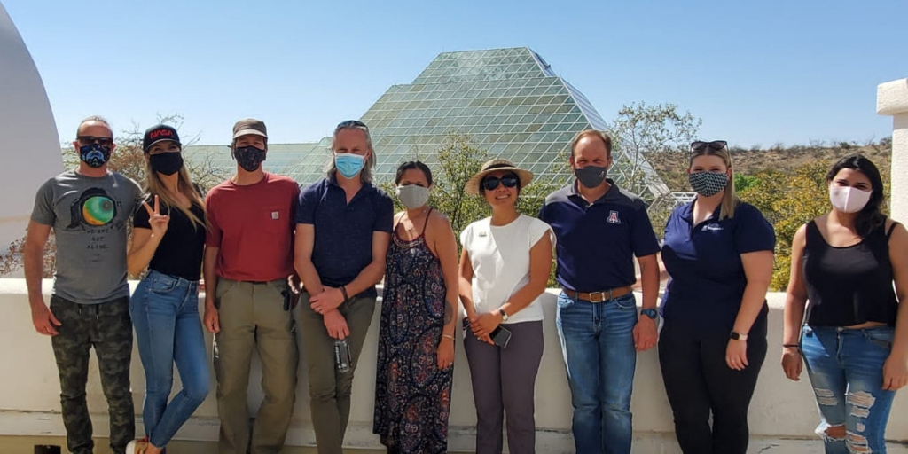 Vera, Bret and Sangita, Jasleen, Rafael, Hillary at SAM, Biosphere 2